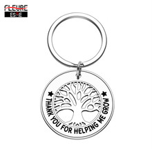 Thank You Keychain Gift for Teacher Women Men Grandmother Grandfather Father Mother Nurse