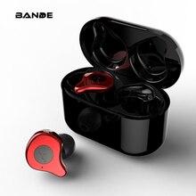 Süper bas kulak içi su geçirmez IPX7 Bluetooth 5.0 kulaklık Mini gerçek kablosuz çift