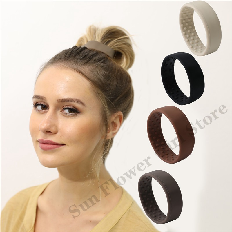 Silicone Foldable Ponytail Holder Elastic Hairbands For Womens Girls Fashion Hair Ring Scrunchies Unique Hair Accessories Female