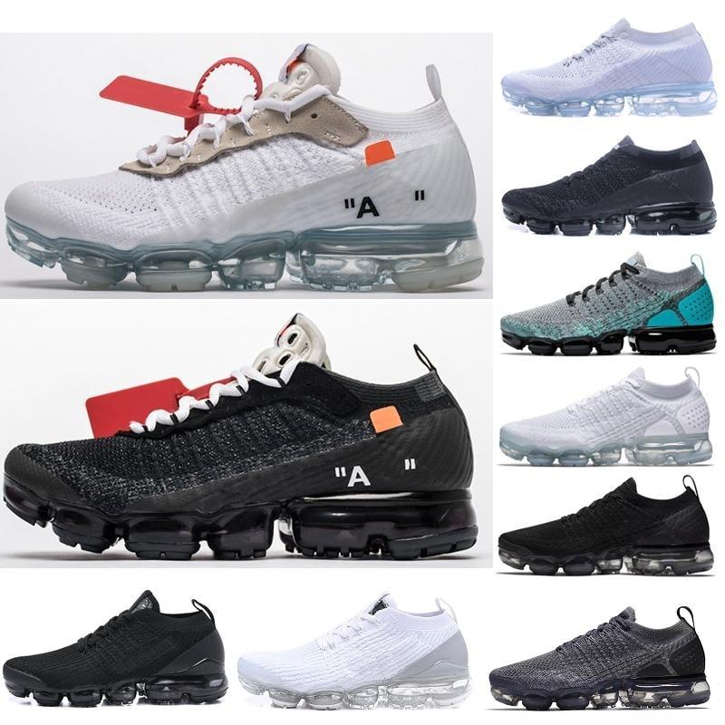2020 Classic Off-W Fly 1.0 2.0 3.0 Knit Flagship Shoes Men Vapors Women Triple White Black Grey Knitting Trainer Sneaker