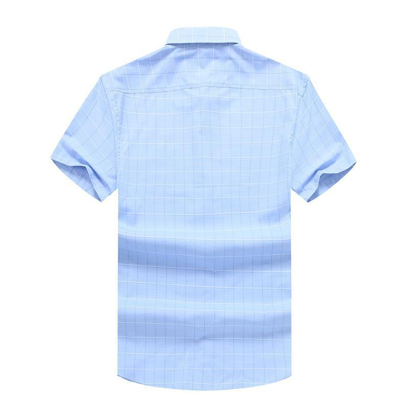 Plus Size 8XL 7XL  Solid Casual Shirt Men Social Dress Shirts  NEW Summer Chemise Homme Mens Short-sleeve Shirt High-quality