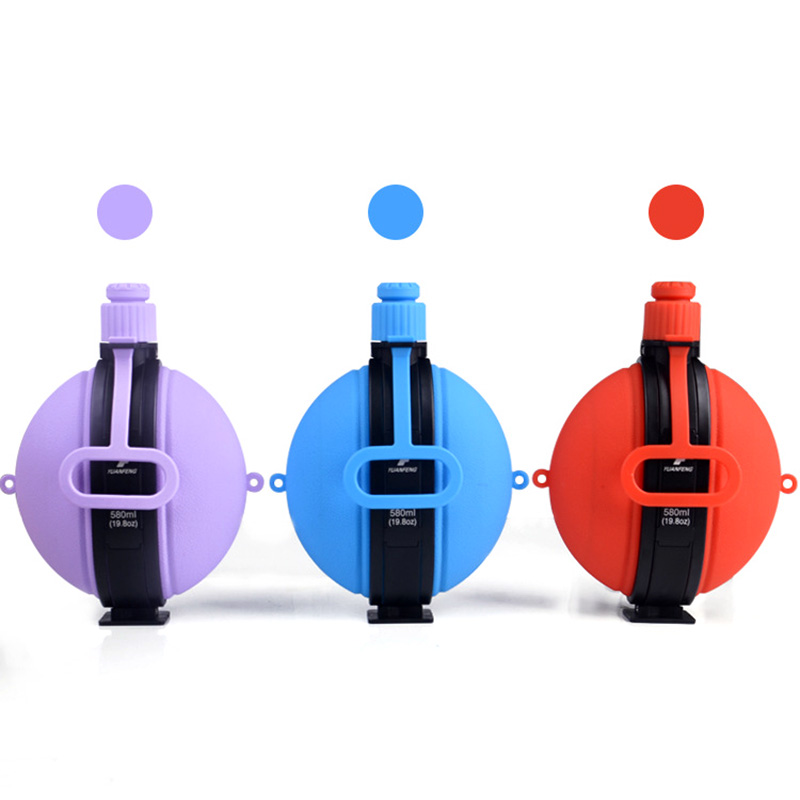 Collapsible Water Bottle Kettle 580ML Large Capacity Portable Silicone with Compass Cap Cycling FK88|Sports Bottles| |  - title=