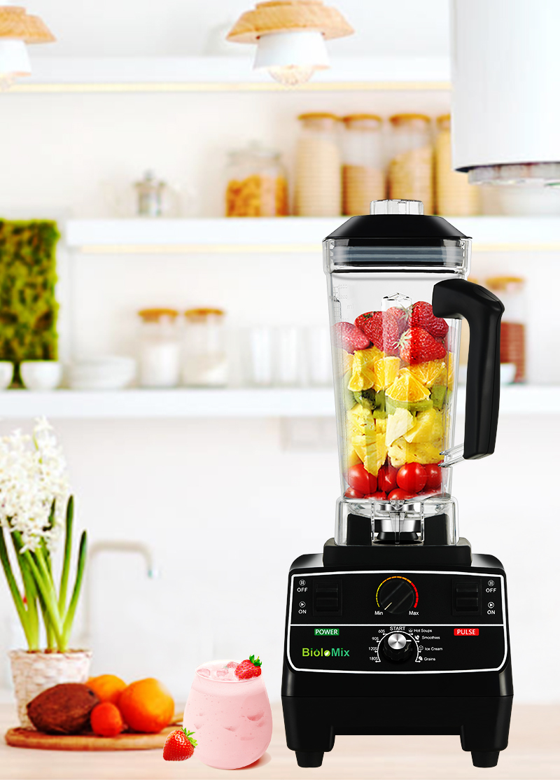 H8f61cba95af547eeacc38286937a83beT BPA Free 2L Jar 2200W Professional Smart Timer Pre-programed Blender Mixer Juicer Food Processor Ice Smoothies Crusher