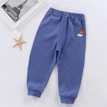 От 1 до 5 лет штаны для маленьких мальчиков и девочек осенние теплые длинные штаны для малышей детские штаны из хлопка с рисунком Леггинсы для малышей