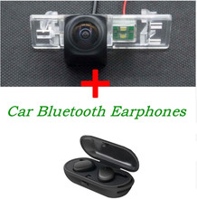 1080P Camera Reverse Car Rear view Camera ForPeugeot 307 308 408 508 ForNissan X-Trail With Stereo TWS Bluetooth Earphones