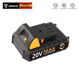 Deko battery20vy 20 v lítio 1500 mah sem fio broca ferramenta bateria para gcd20du2