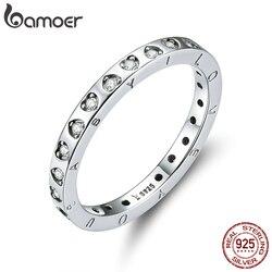 Bamoer Engagement Wedding Band Echt 925 Sterling Zilver Minimalistische Belofte Vinger Ringen Voor Vrouwen 2020 Bijoux Moda SCR633