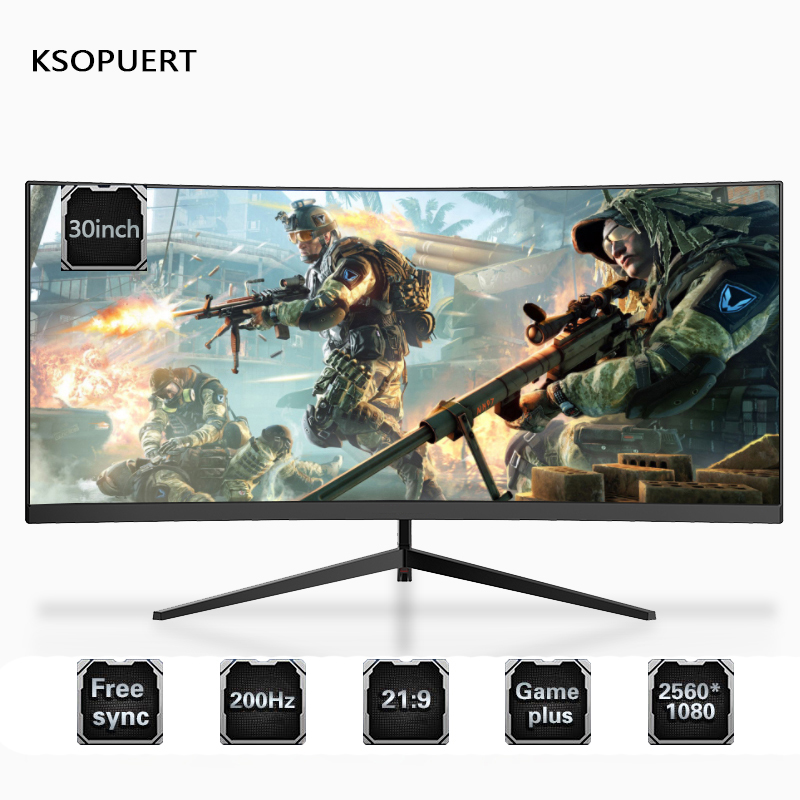 KSOPUERT 29.5-inch 200hz Curved Surface 2K Widescreen 21:9 E-sports 144hz Display With Fish Screen