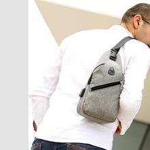все цены на Fashion Chest Shoulder Bag Casual For Men Women Boy Girl Messenger Bags Oxford Cloth Simple Sports Crossbody School Bag Handbag онлайн