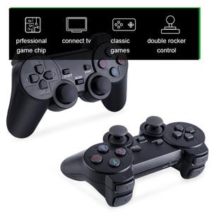 Image 5 - נתונים צפרדע Y3 לייט 10000 משחקים 4K משחק מקל טלוויזיה וידאו משחק קונסולת 2.4G אלחוטי בקר עבור PS1/SNES 9 אמולטור רטרו קונסולה