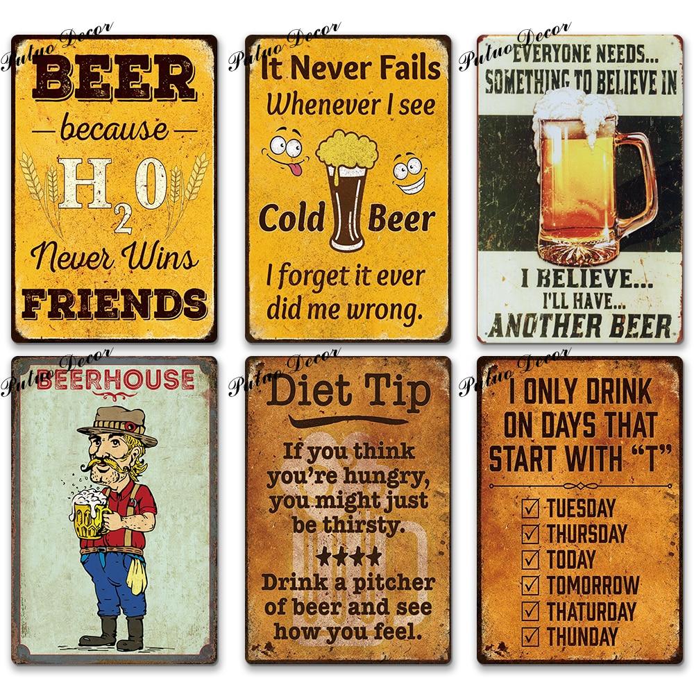15x30cm Retro Poster Metal Tin Sign Plaque Pub Bar Cafe Wall Decor Words 03