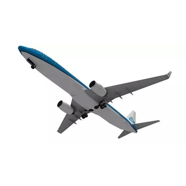 DIY Airplane Paper Model Papercraft Toy 1:100 Boeing Paper Model Aircraft Aircraft Handmade Origami Model 737 Toy Paper 3D P2J7 4