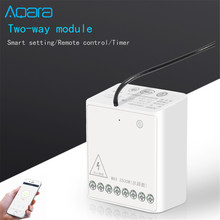 Original xiaomi Aqara Wireless Relay Module Two-way Control Double Channels Switch Controller Smart Light For Mi Home app