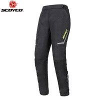 SCOYCO Pantalon de Moto hommes Motocross garder au chaud Pantalon Moto Pantalon d'équitation Pantalon avec équipement de protection du genou P072