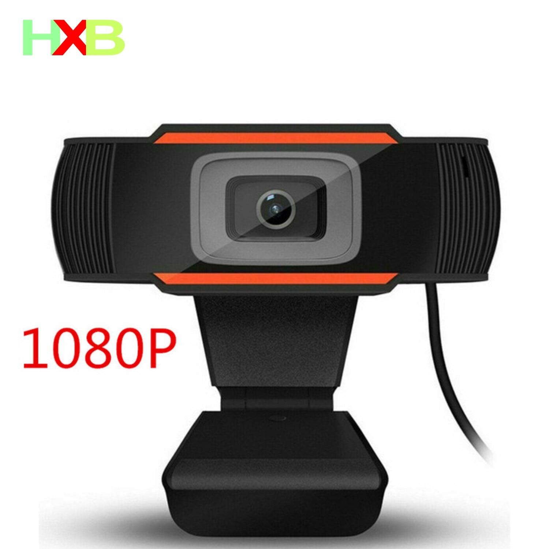 HXB Webcam HD 1080P Web Camera Microphone USB Auto Focus Video Micro Web Cam For PC Computer Desktop Xiaomi Video Conferencing