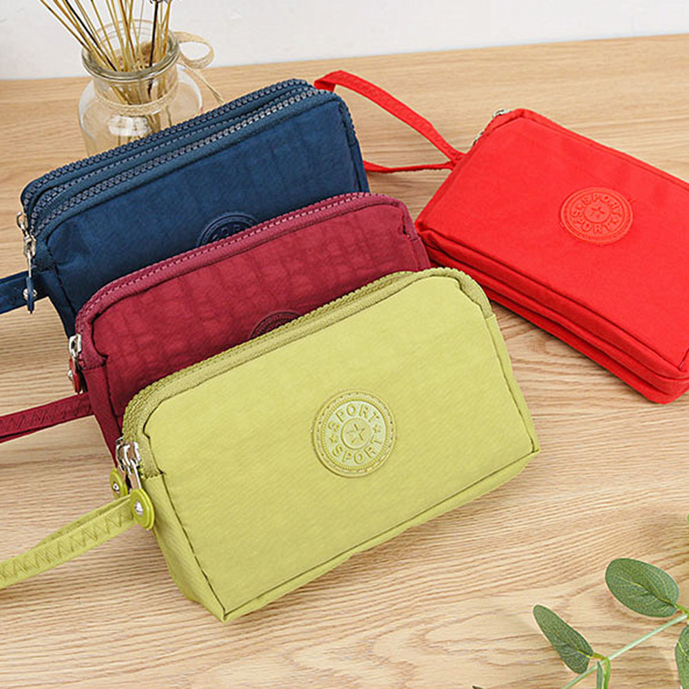 New Women Wallet Lady Canvas Clutch Coin Phone Card Holder Bag Long Purse Wallet High Quality Evening Handbag Makeup Bag