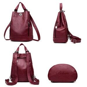 Image 3 - LANYIBAIGE נשים תרמיל תרמילי עור באיכות גבוהה עבור נערות נשי בית ספר כתף תיק Bagpack המוצ ילה plecak
