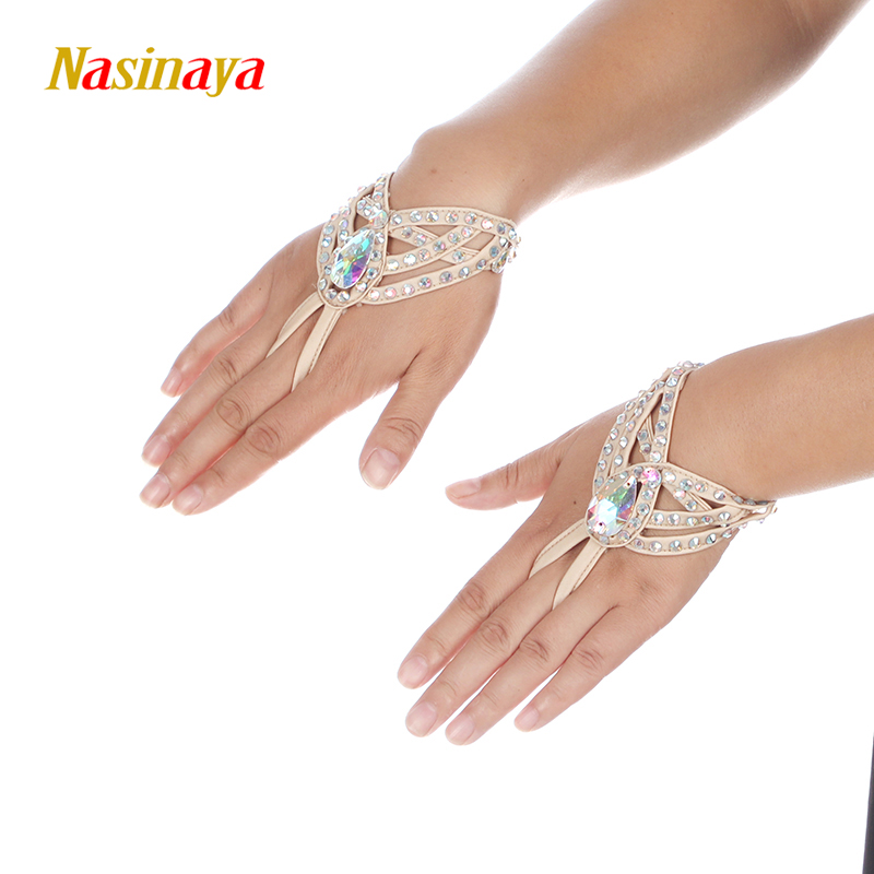 Nasinaya 23 Colors Figure Skating Competition Performance Hand Jewelry Ice Skating Decoration Girl Women Kids Shiny Bracelet