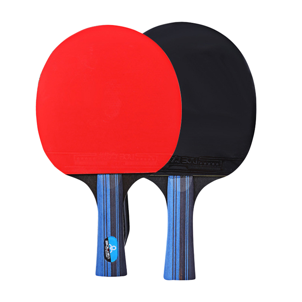 Long Short Handle Table Tennis Racket Set With 3 Balls Powerful Teenagers Paddle Rubber Students Lightweight Training Sport Bat