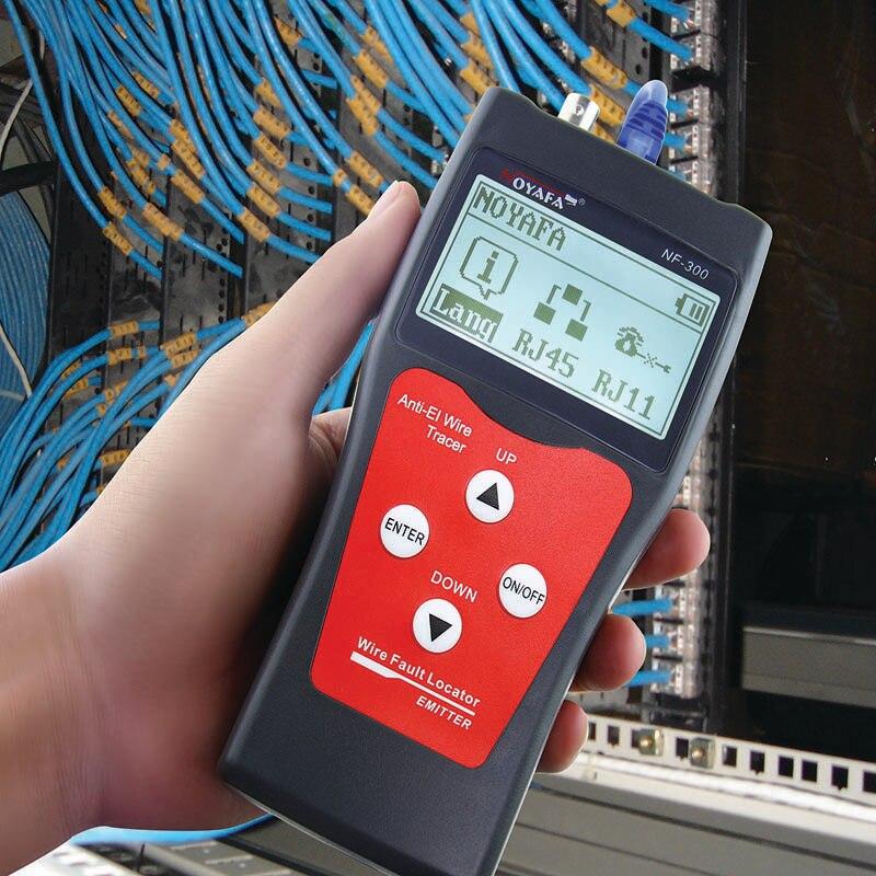 Тестер NOFAYA LAN, тестер RJ45, измерительный кабель, длина, мониторинг сети, поиск провода, анти-интерференционный тон