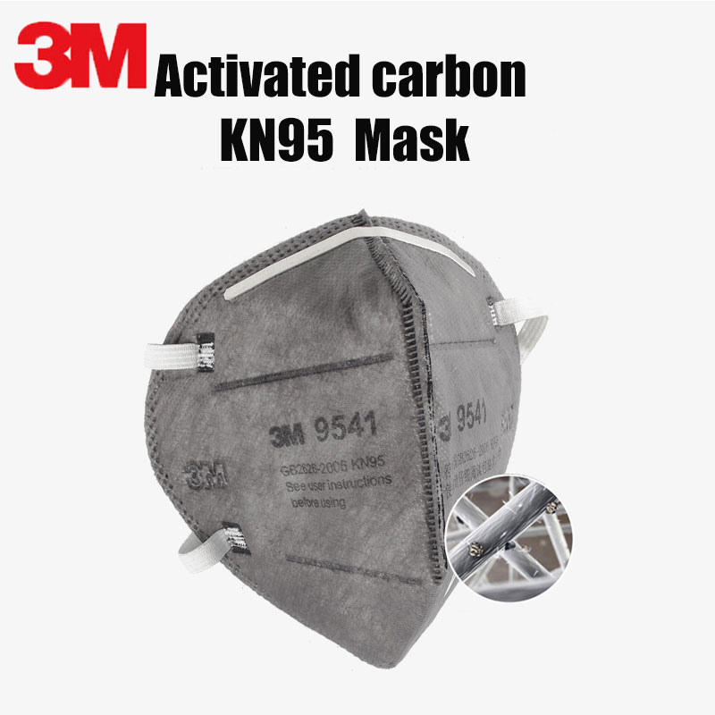 3M Face Mask 9541 Respirator Masks Anti-Dust Organic Vapor Particle PM2.5 Protect Active Carbon Filter Mouth Safety Mask