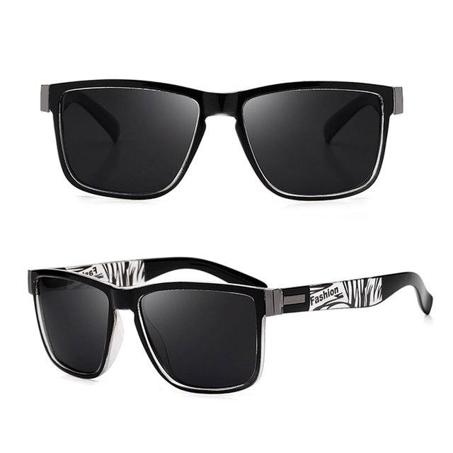 Fashion Wrap Square Frame Retro Polarized Sunglasses  3