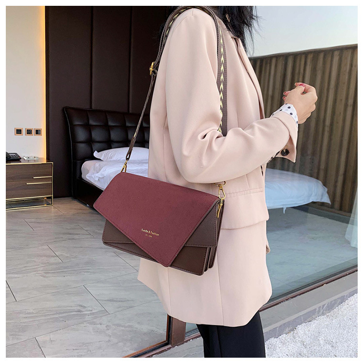 Brand Originality Design Handheld Frosted bag women 2020 new version of Joker shoulder slung fashion broadband small square bag 1