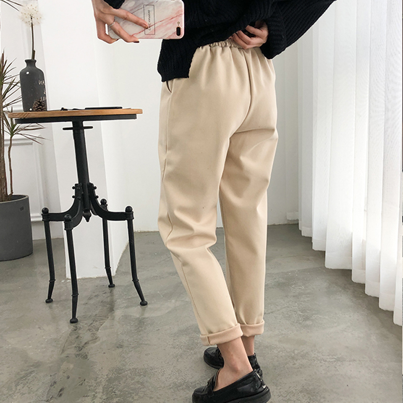Thicken Women Pencil Pants 2019 Autumn Winter Plus Size OL Style Wool Female Work Suit Pant