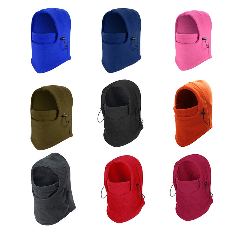 Новая зимняя куртка с капюшоном для Лыжный Спорт Велоспорт маска шапки бини шапки ветрозащитный теплый флис уход за кожей лица Шапки DO99