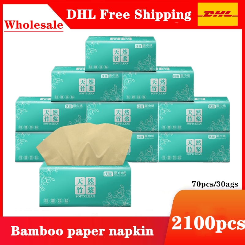 1800pcs DHL Free Shipping Nature Bamboo Soft Paper Napkin For Restaurant Table Dinner Paper Tissues Party Supplies Disposable