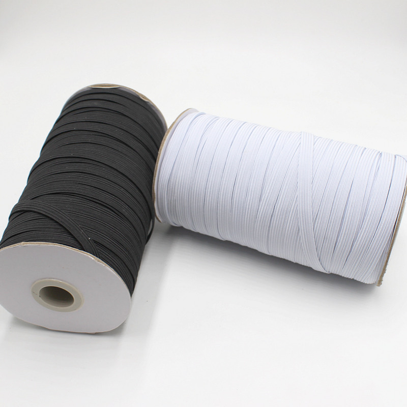 10Meter/lot Elastic Band Sewing Black White 3/6/8/10/12/mm High Quality Flat Elastic Bands For Underware Pajamas Ties Trim
