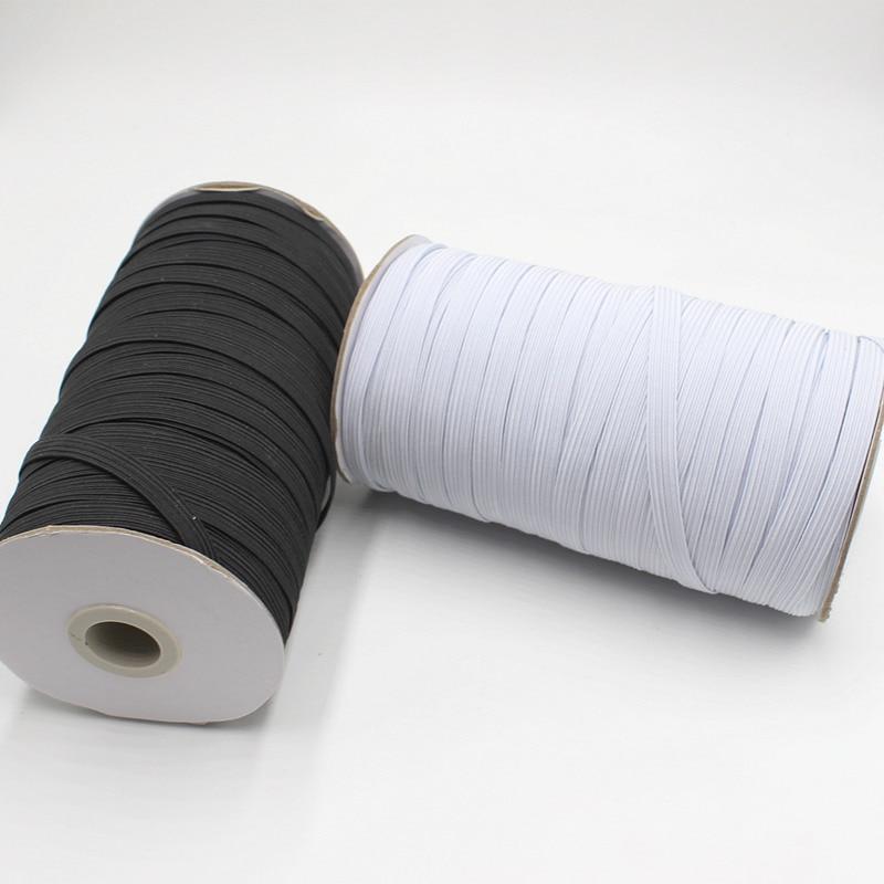 10Meter/lot Elastic Band Sewing Black White 3/6/8/10/12/mm High Quality Flat Elastic Bands For Underware Pajamas Ties Trim