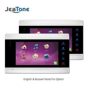 Image 3 - JeaTone جديد 7 بوصة جرس باب يتضمن شاشة عرض فيديو مراقب إنترفون مع 1200TVL كاميرا خارجية IP65 باب نظام الهاتف ، السفينة من الروسية