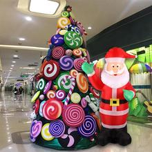 цена на 1.8m Inflatable Santa Claus Green Christmas Hand Inflatable Santa Claus Cute Xmas Party Decoration Inflatable Outdoor Statue