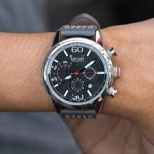 Megir relógio masculino de quartzo, relógio analógico, cronógrafo, novo, pionter, à prova dágua, estilo de trabalho, relógio de pulso 2020