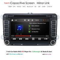 Ossuret 7'' 2 din Car DVD Radio Player GPS Navigation for VW Golf/6/Golf/5/Passat/b7/cc/b6/SEAT/Skoda Bluetooth FM Stereo Player