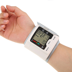 Automatic Blood Pressure Monitor Wrist Sphygmomanometer with LCD Digital Display Household Use for Measuring Pulse Rate