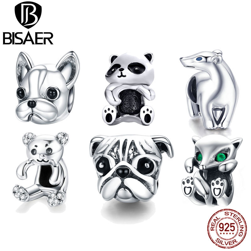 Tibetan Silver Dog Purp Animal Interval Bead suitable for jewelry//Free shipping