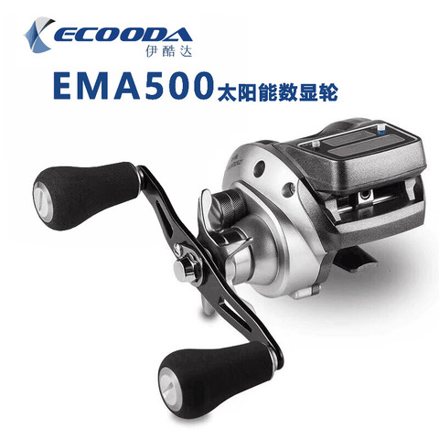 frete gratis nova ecooda carretel de arremesso digital ema500r ema500l 6kgs drag power 6 2