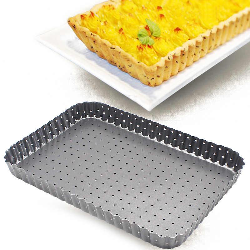 Pratik karbon çelik Pizza tava yuvarlak dikdörtgen kek Pizza pasta pişirme tepsisi yapışmaz Bakeware dayanıklı mutfak pişirme araçları