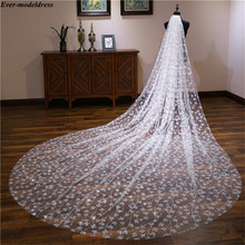 Bridal-Veils Champagne Wedding-Accessories Glitter Long Comb Mariage Ivory Vintage One-Layer