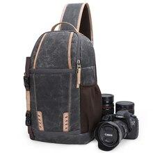 Su geçirmez kamera çantası sırt çantası büyük kapasiteli darbeye dayanıklı Lens çanta fotoğraf kamerası tek kollu çanta omuz DSLR Canon Nikon Sony SLR