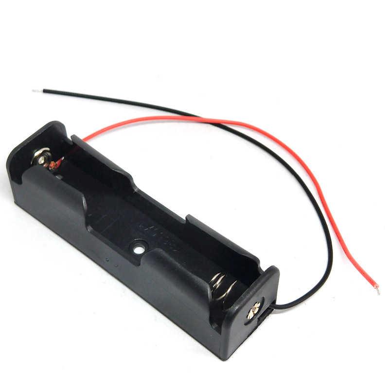 4/3/2/1x18650 caixa de armazenamento da bateria caso diy 1 2 3 4 slot maneira baterias clipe titular recipiente com fio chumbo pino