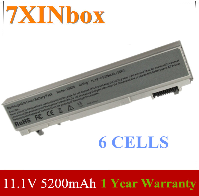 7XINbox батарея PT434 для Dell Latitude E6400 ATG E6410 E6500 E6510 M2400 M4400 M4400 PT434 PT435 PT437 KY265 KY268 FU272 FU274