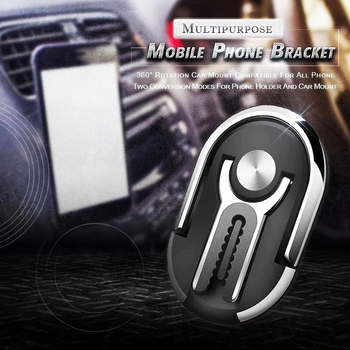 Multipurpose Mobile Phone Bracket Holder 360 Degree Car Air Vent Grip Mount Stand Rotation Magnetic Finger Ring Phone Holder
