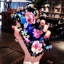 estampado flores azul RETRO VINTAGE