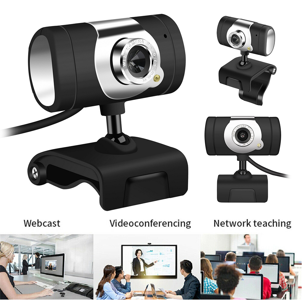 HD 480P USB2.0 Webcam Camera Built-In Sound-absorbing Microphone Clip-on For Computer  Laptop Professional Dropshipping