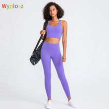 Yoga Set Tight Leggings Sports Clothing Sexy Beauty Cross Sports Bra Top Yoga Pants Sport Suit Workout Clothe For Women Sportwea
