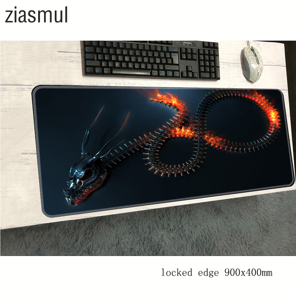 Fantasy Dragon Mouse Pad 900x400x2mm Mats Big Mouse Mat Gaming Accessories Fashion Mousepad Keyboard Games Pc Gamer