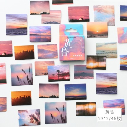 46 Pcs/lot Sunset Travel Decorative Stickers Bullet Journal Adhesive Sticker DIY Label Diary Scrapbooking Stationery Stickers
